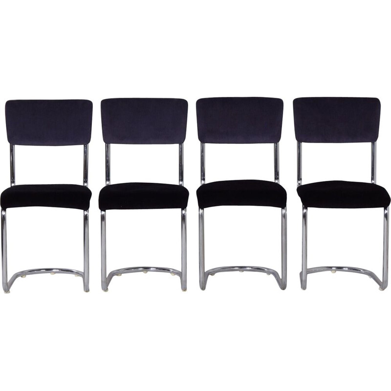 Set of 4 vintage 1017 Cantilever Chairs by Toon De Wit for Gebr. De Wit, 1950s