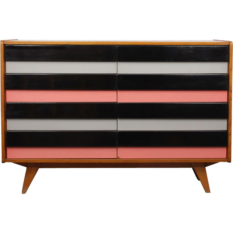 Vintage czech coloured chest of drawers by Jiri Jiroutek, 1960s