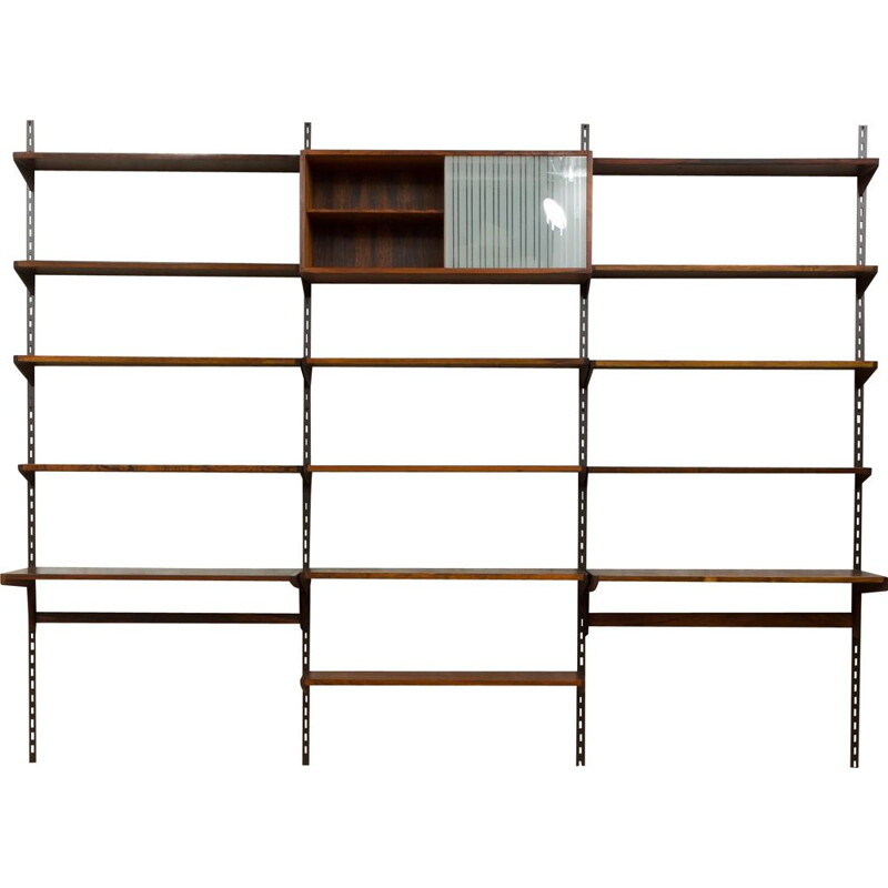 Vintage rosewood wall unit by Kai Kristiansen for FM Mobler