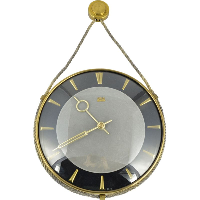 Vintage Mechanical wall clock by UPG Halle, Germany, 1960s