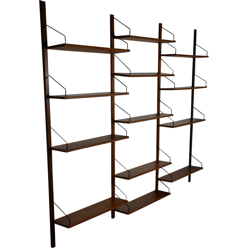 Vintage wall shelving system by Poul Cadovuis, 1960