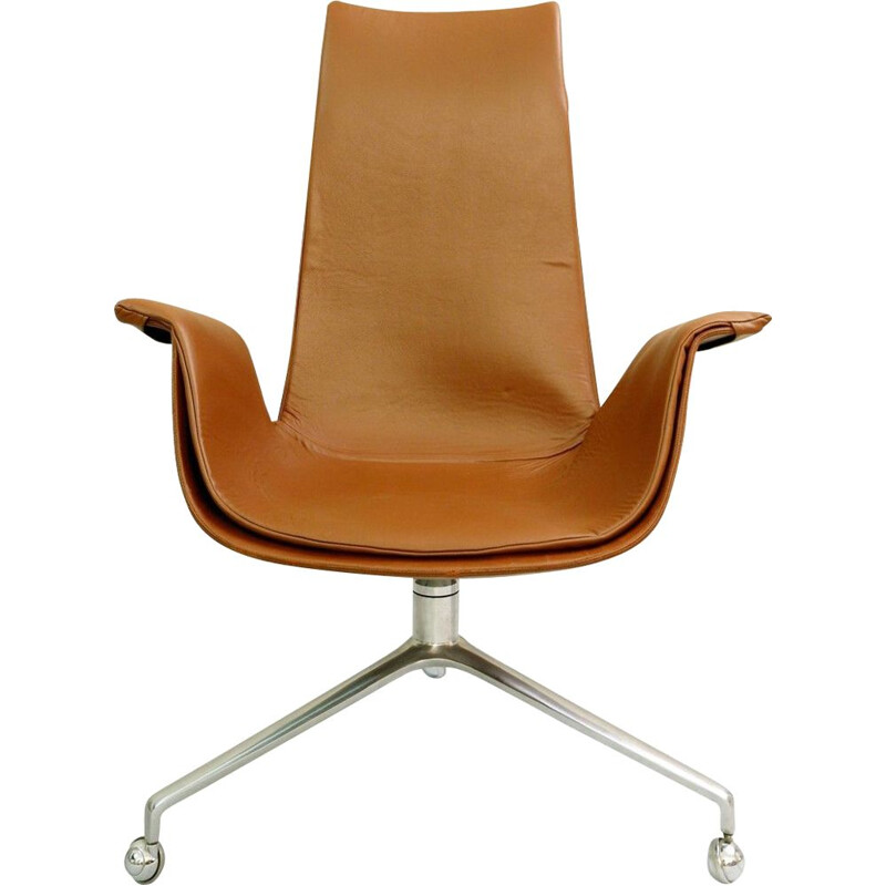 Vintage Office Chair by Preben Fabricius & Jørgen Kastholm for Kill International, 1960s