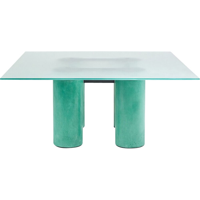 Vintage dining table David Law, Lella and Massimo Vignelli for Acerbis, 1980s