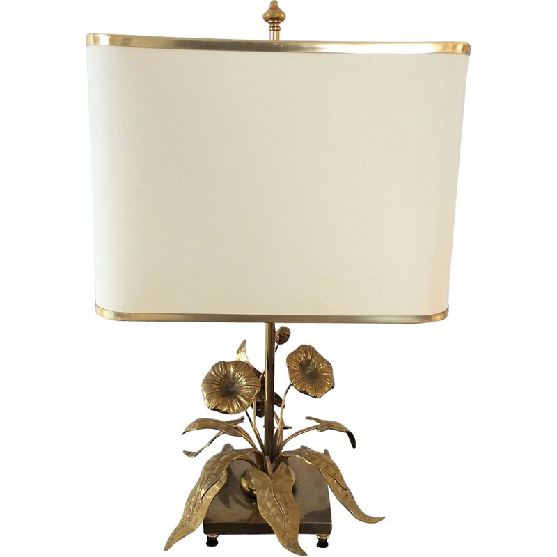 Vintage lamp with floral design, 1970s