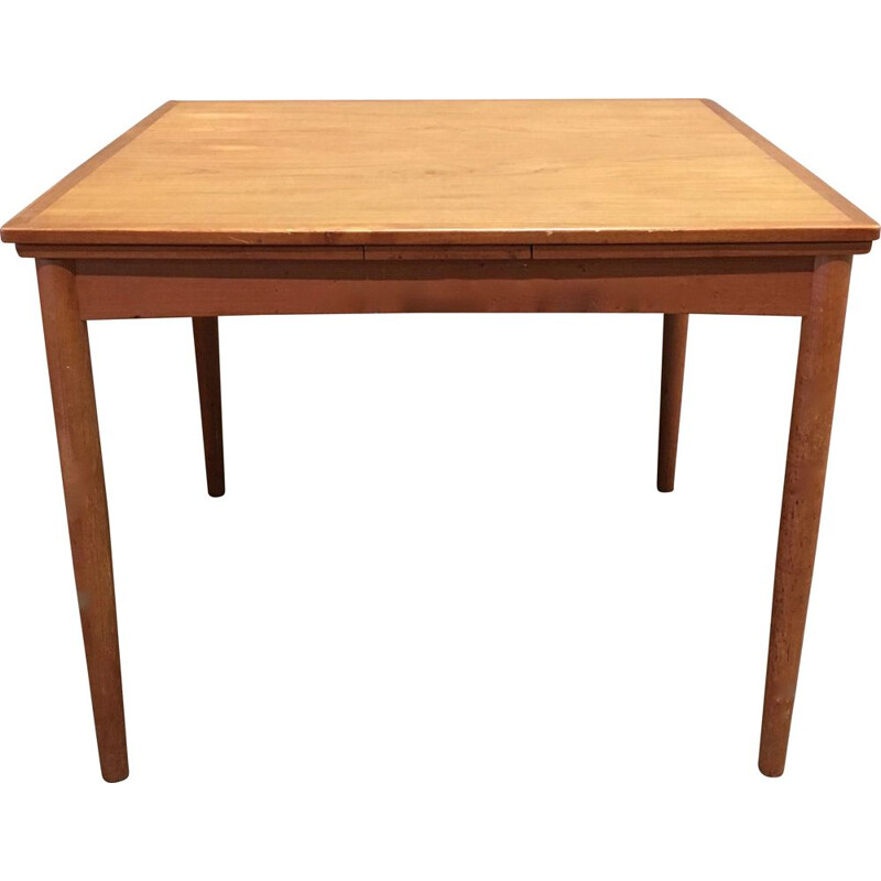 Vintage extensible Scandinavian teak table, 1950s