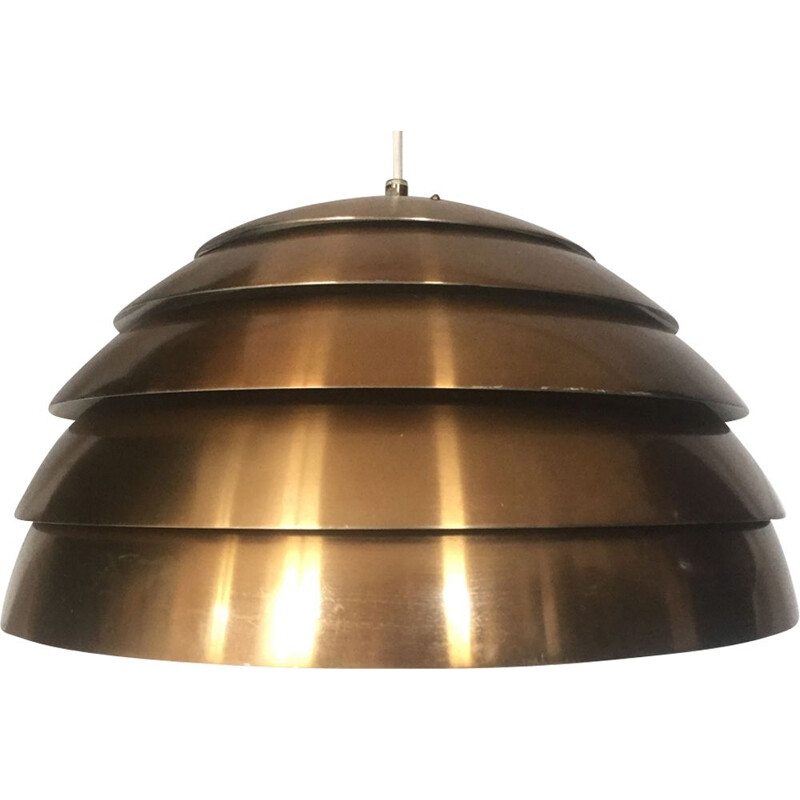 Vintage brass pendant light by Hans Agne Jakobsson