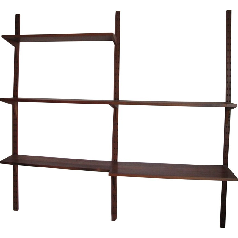 Vintage teak wall shelf system by Poul Cadovius, Denmark