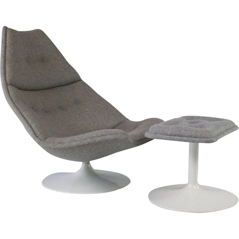 Vintage swivel chair F510 and ottoman by Geoffrey Harcourt for Artifort Holland, 1960s