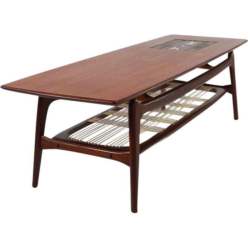 Vintage teak Coffee table by Louis Van Teeffelen for WéBé Holland, 1960s