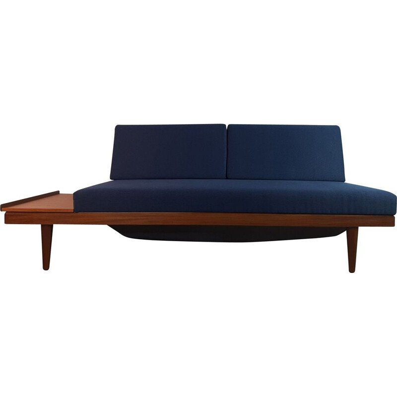 Vintage teak and fabric daybed by Ingmar Relling by Ekornes, 1960s