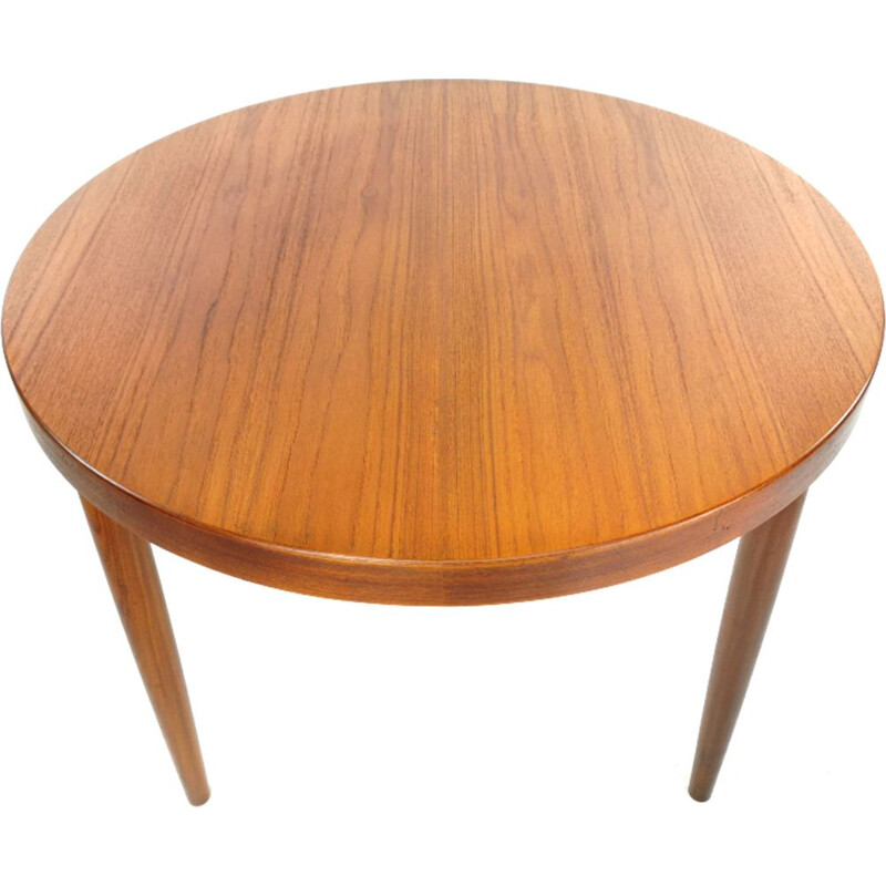 Vintage Round Teak Dining Table by Kai Kristiansen, 1960s