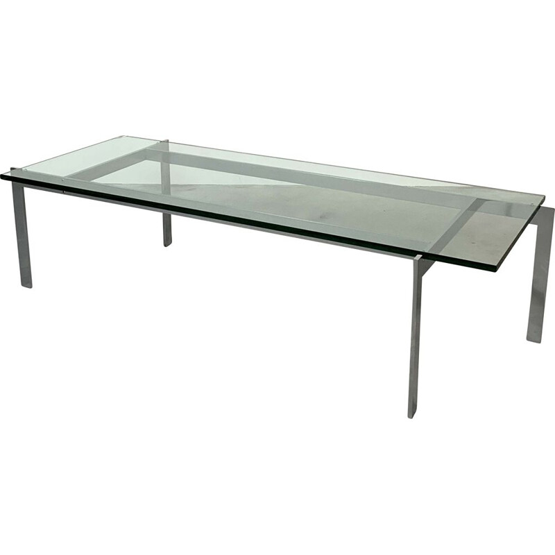 Vintage Chrome and Glass Coffee Table, 1960s