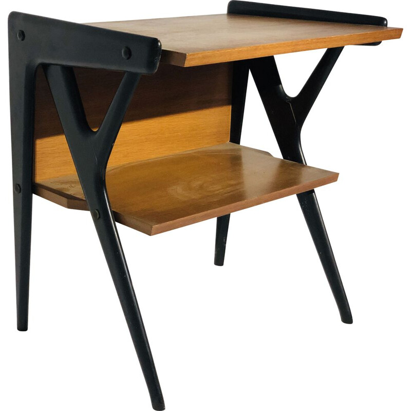Vintage Scandinavian wooden desk