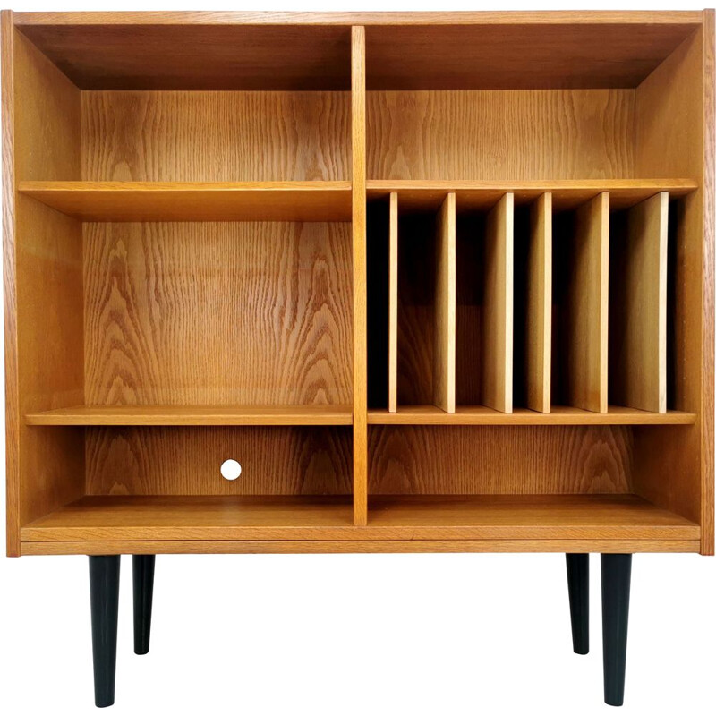 Vintage Media unit in oak by Carlo Jensen from Hundevad, 1970s