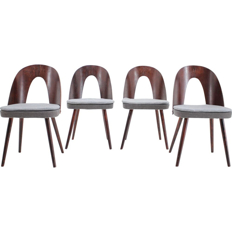 Set of 4 vintage Dining Chairs by Antonin Suman, 1960s