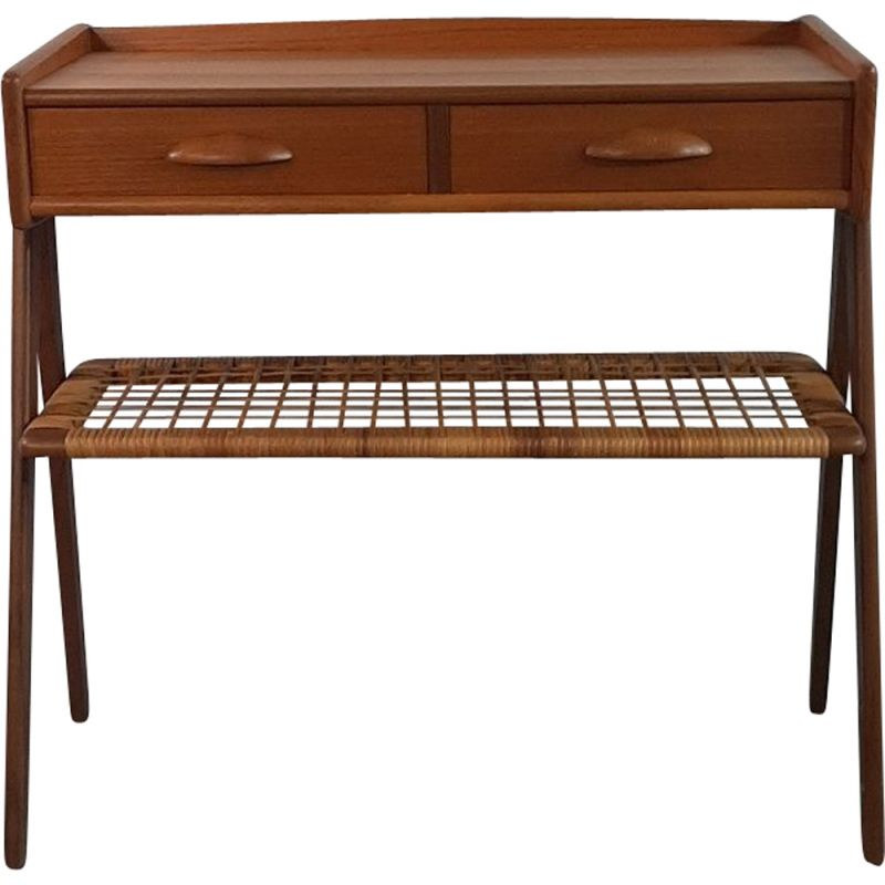 Small Vintage Teak Console, Denmark, 1960s