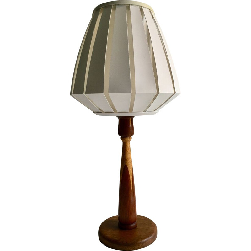 Vintage wooden table lamp, 1960d