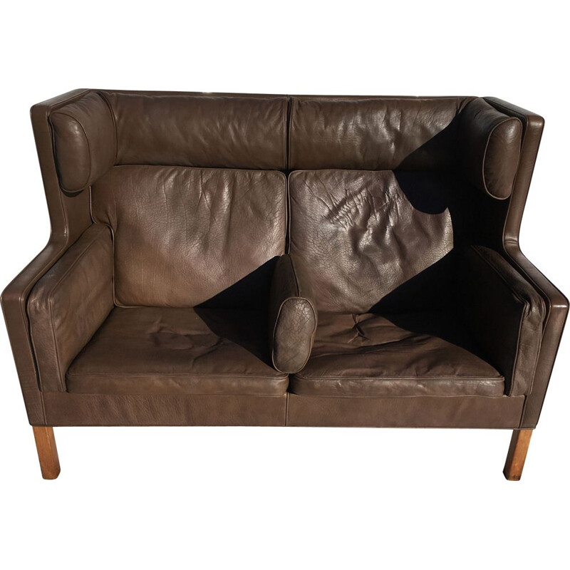 Vintage leather sofa model 2192 by Borge Mögensen
