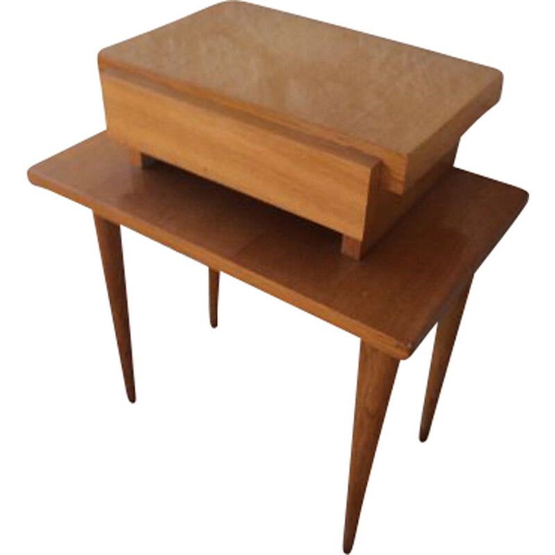 Scandinavian vintage nightstand by Capelle, France, 1980s