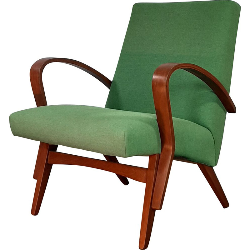 Vintage green armchair by Jiràk for TATRA, Czechoslovakian, 1960s