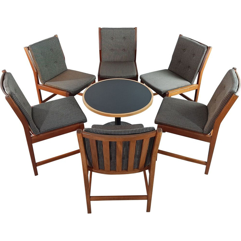 Set of 6 vintage mahogany dining chairs by Kurt Østervig for KP Møbler, 1950