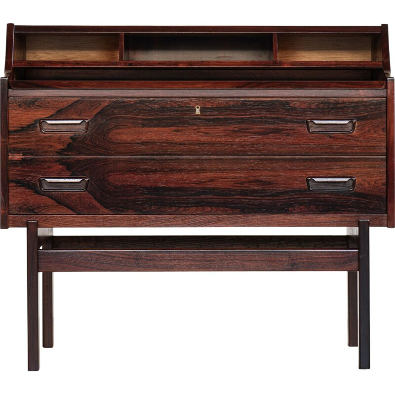 Vintage secretary in rosewood by Arne Wahl Iversen for Vinde Møbelfabrik, 1960s