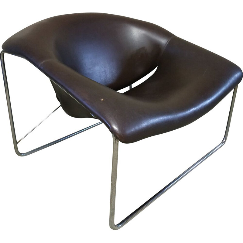 Vintage armchair model Cubique by Olivier Mourge Airborne edition, 1970s