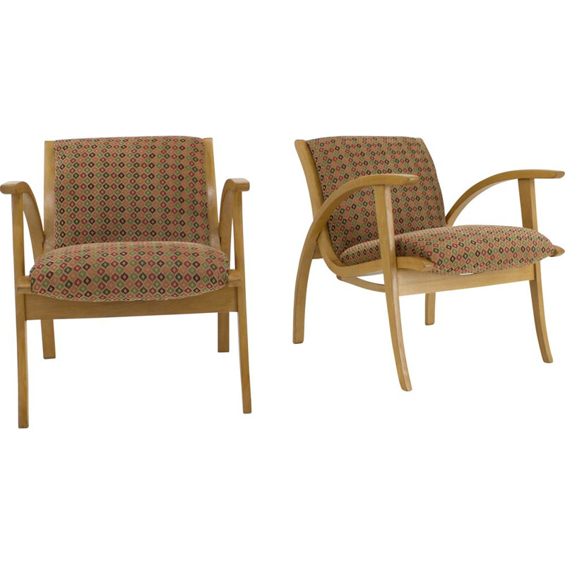 Set of 2 vintage armchairs, 1960s