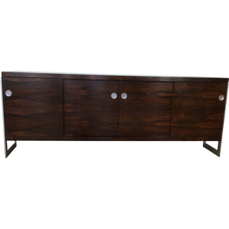 Rosewood and chrome vintage sideboard