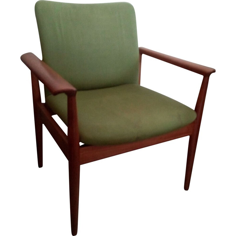 Pair of Finn Juhl Diplomat vintage armchairs, model 209