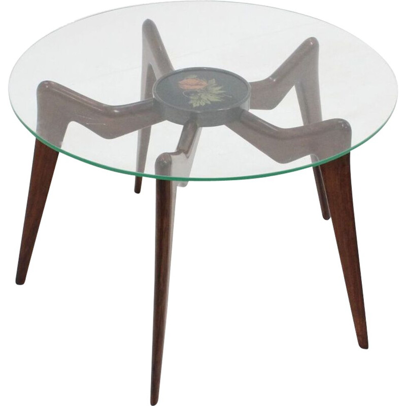 Italian round vintage coffee table, 1950s