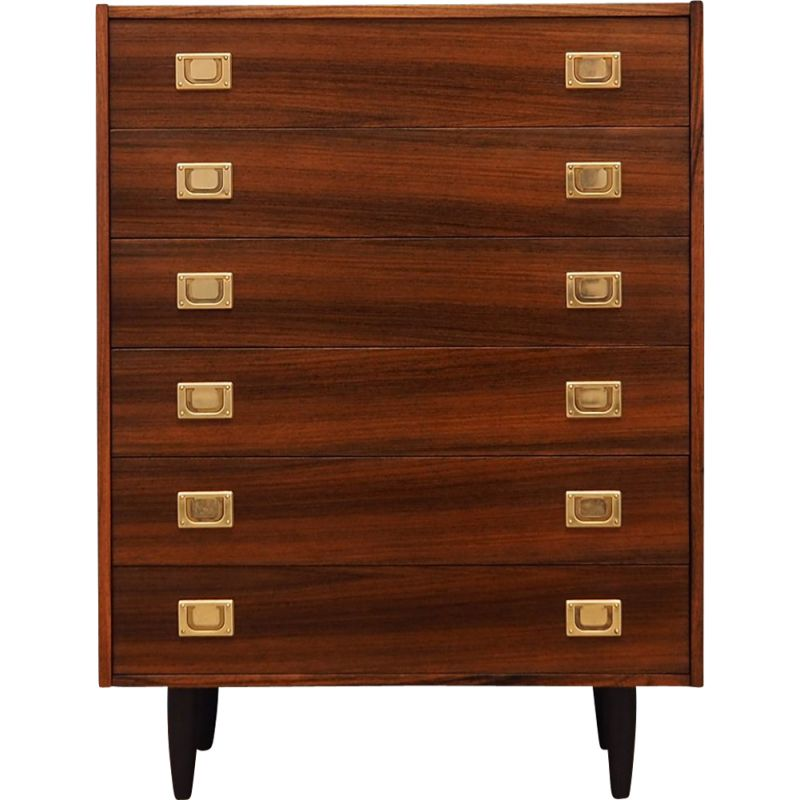 Danish rosewood vintage chest of drawers, 1970s