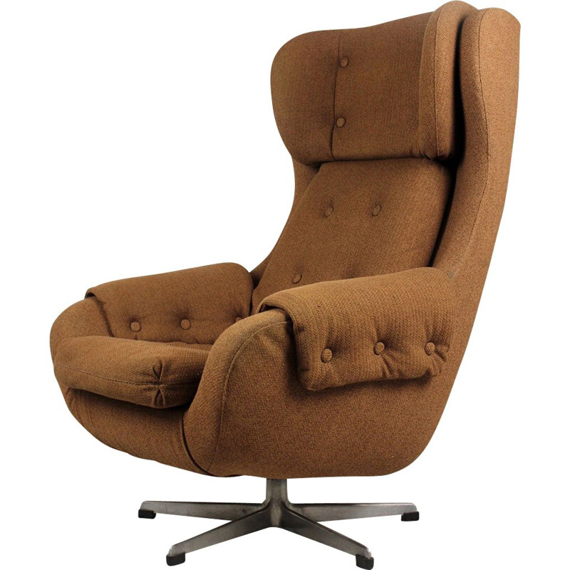 Vintage Swivel Armchair from UP Zavody Rousinov, 1970s
