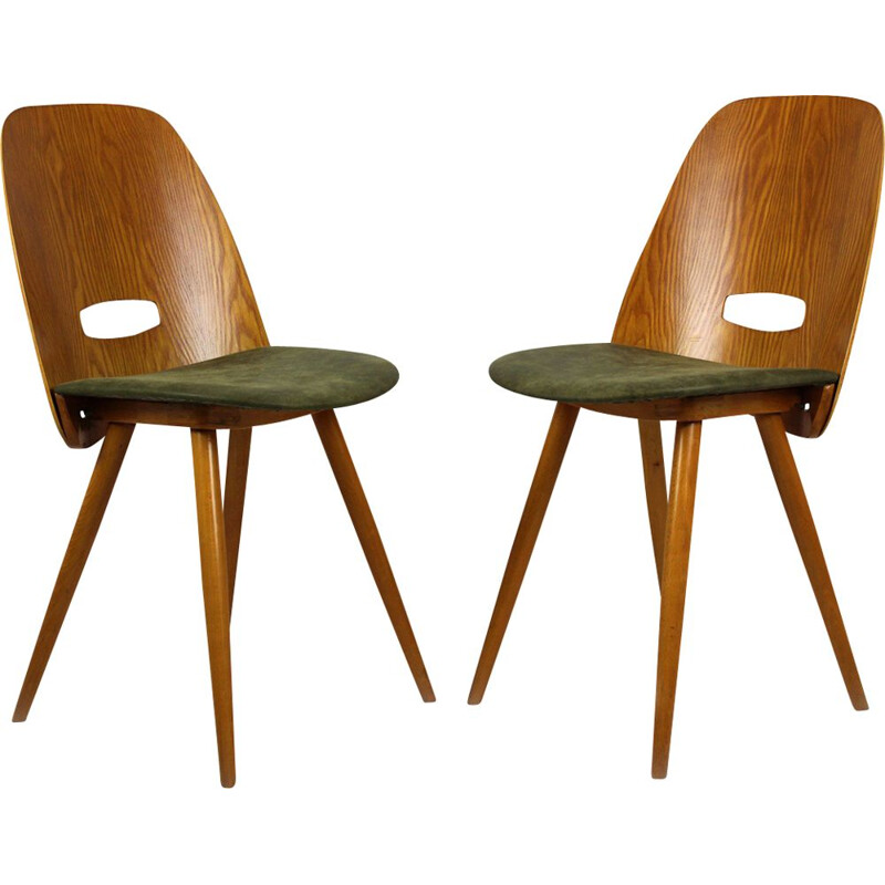 Set of 2 vintage Dining Chairs by František Jirák for Tatra, 1960s