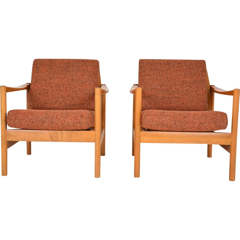 Pair of Scandinavian vintage armchairs, 1960s