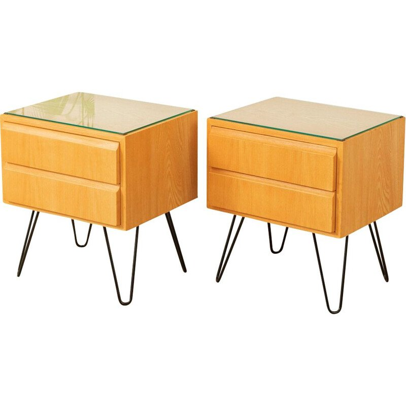 Set of 2 vintage Bedside tables by Oldenburger Möbelwerkstätten, 1950s
