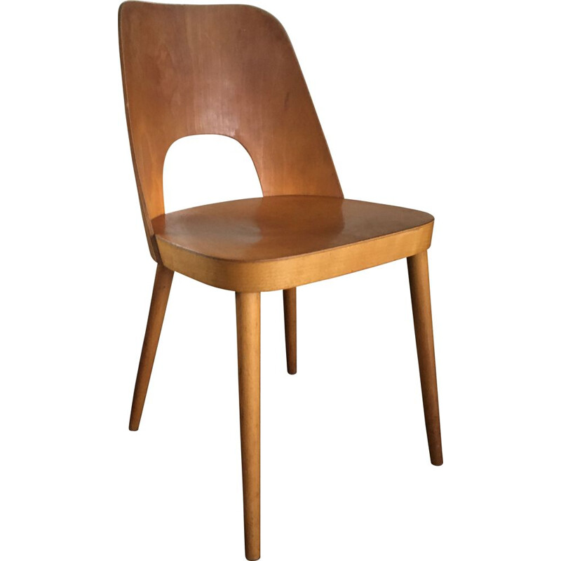 Plywood vintage chair by Oswald Haerdtl for Thonet, 1955