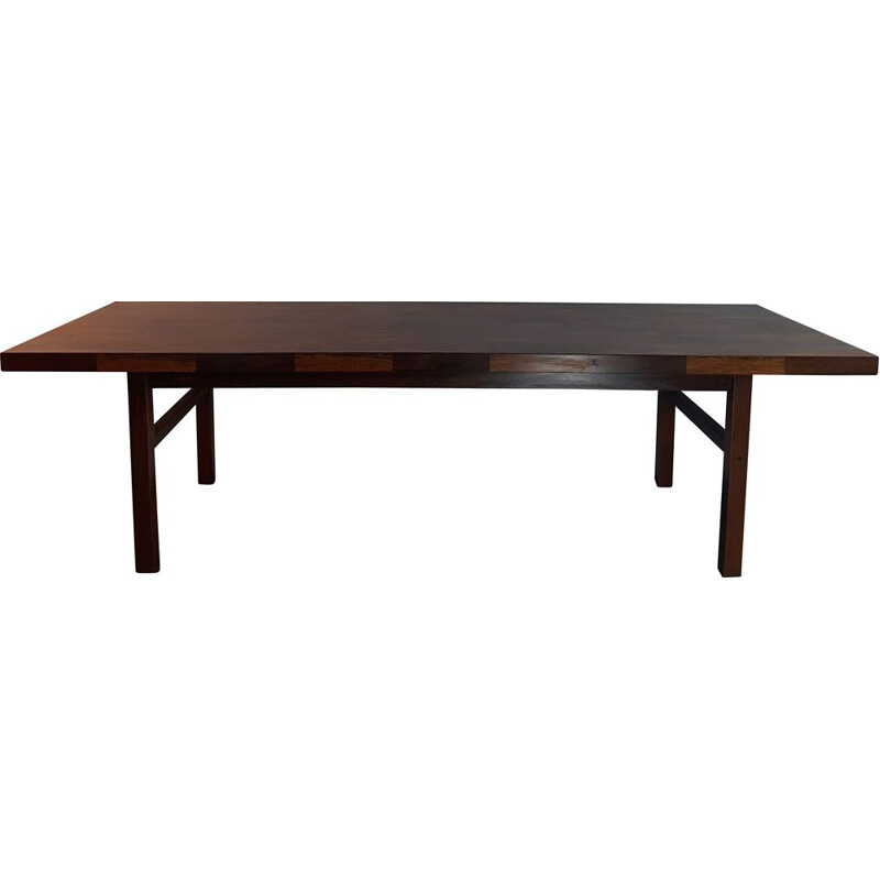 Large vintage rosewood coffee table, 1960s