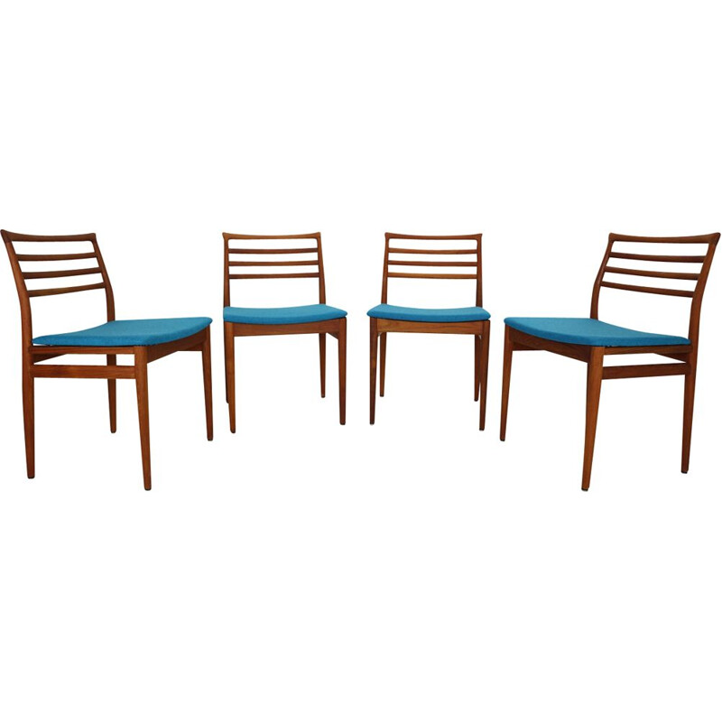 Set of 4 vintage Teak Dining Chairs by Erling Torvits for Sorø Stolefabrik, Denmark, 1960s