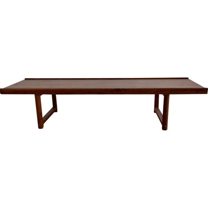 Long Vintage Scandinavian rosewood coffee table, 1990s