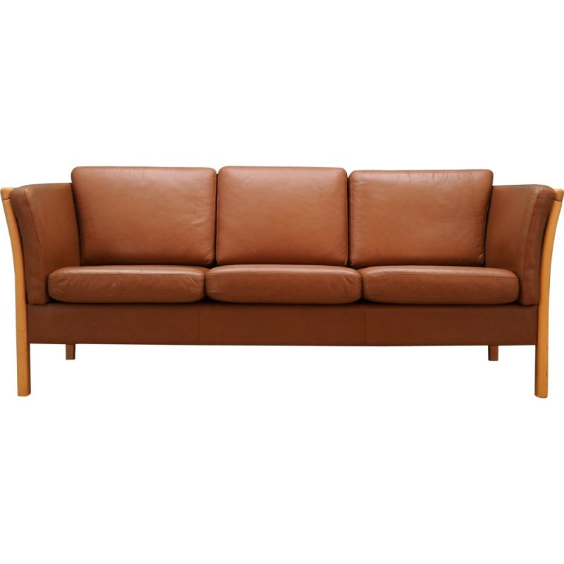 Vintage leather Sofa by Stouby, 1960-70s