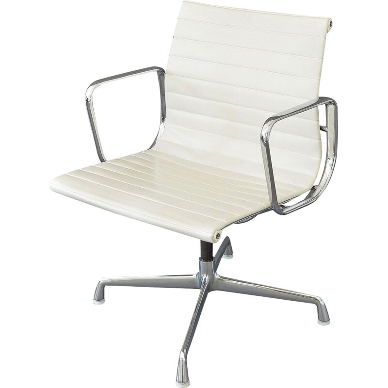 Vintage aluminium EA 108 Swivel Chair by Charles & Ray Eames for Vitra, 1980s