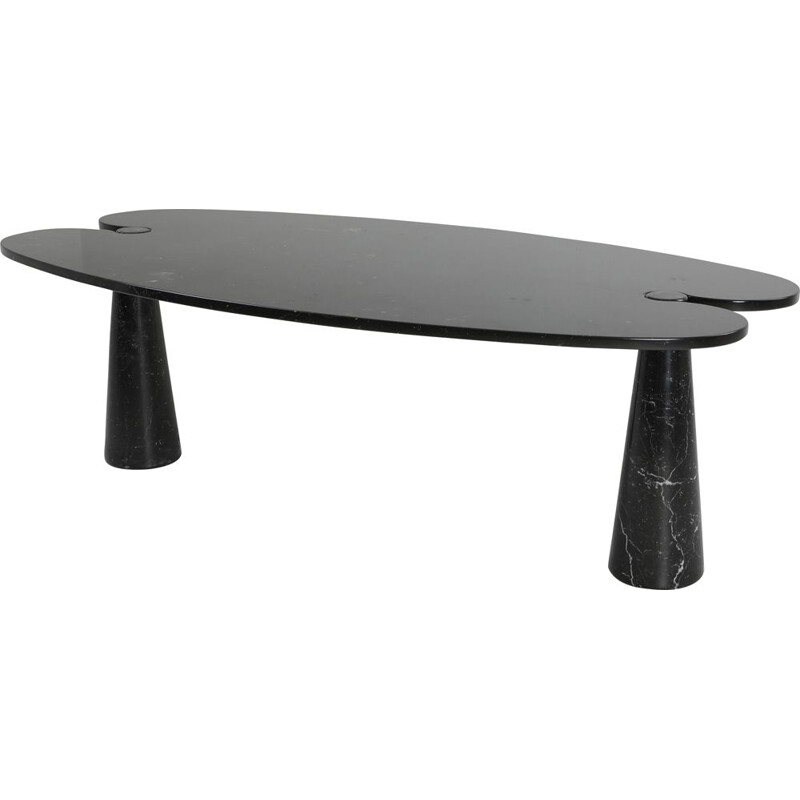 Vintage Black Marble Dining Table by Mangiarotti for Skipper, 1970s