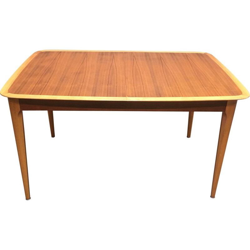 Vintage wooden extensible table, 1950s