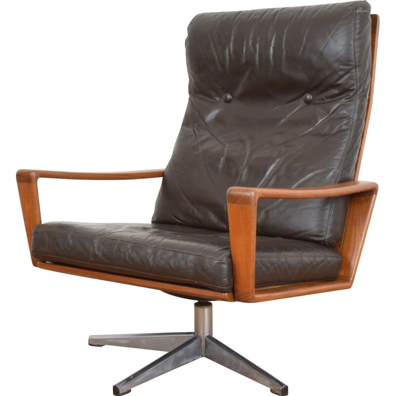 Vintage Swivel Lounge Chair by Arne Wahl Iversen for Komfort, 1960s