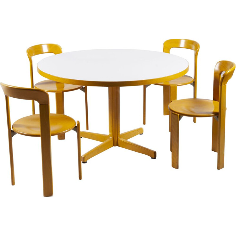 Vintage dining set by Bruno Rey for Kusch+Co, 1970s
