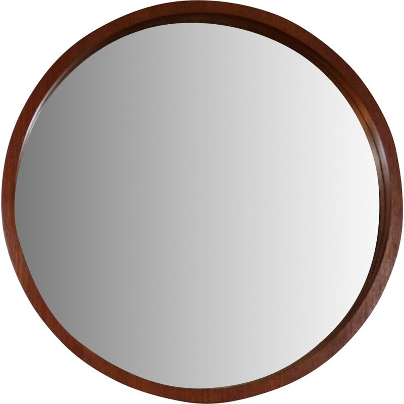 Teak wall mirror by Münchner Zierspiegel, Germany