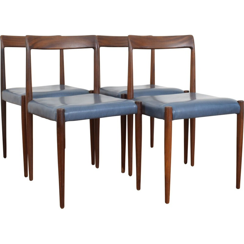Set of 4 german vintage dining chairs from Lübke, 1960s