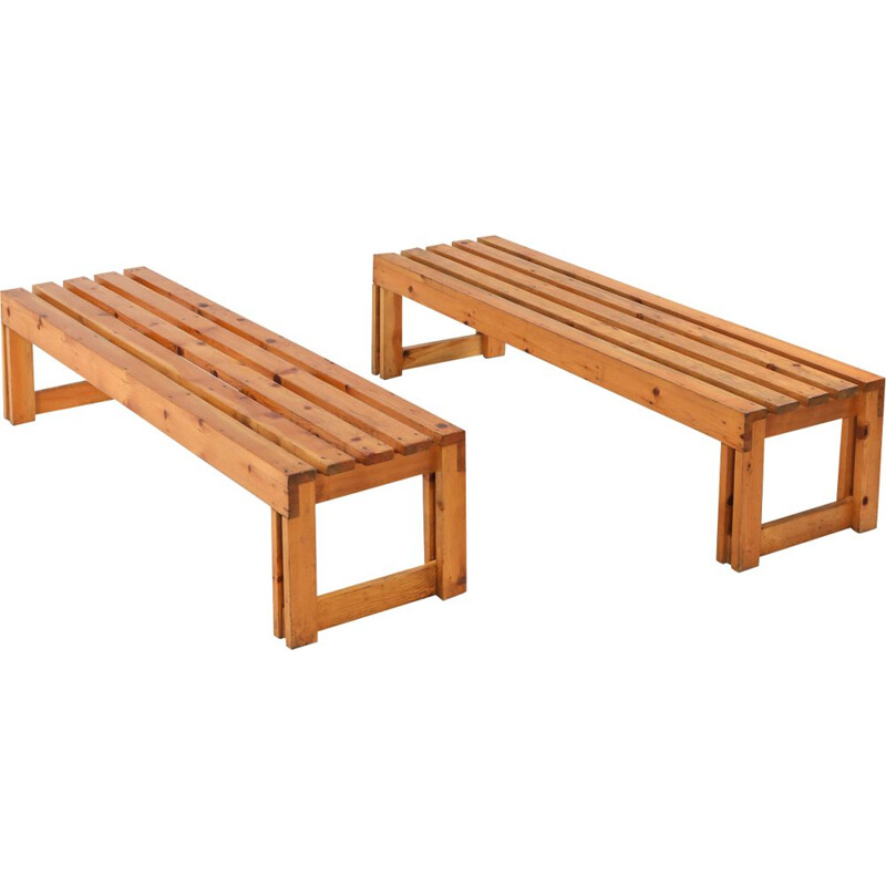 Italian pine vintage bench from Old Vinery, 1960s