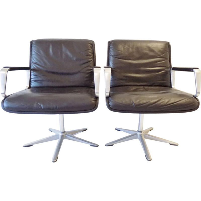 Set of 2 vintage office armchairs Delta 2000 by Delta Group, 1968